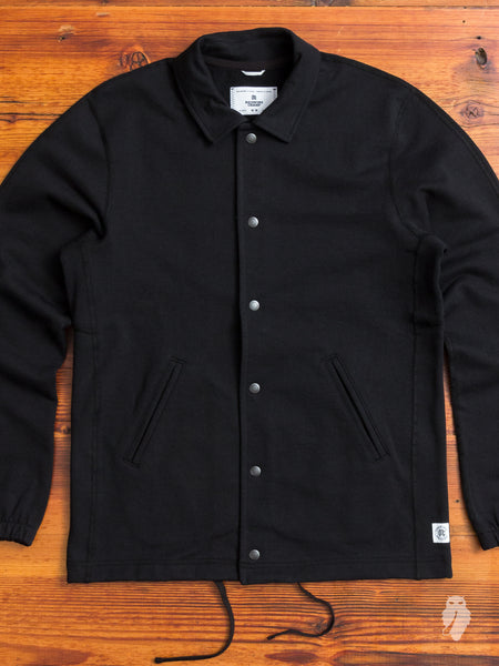 Heavyweight Coaches Jacket in Black