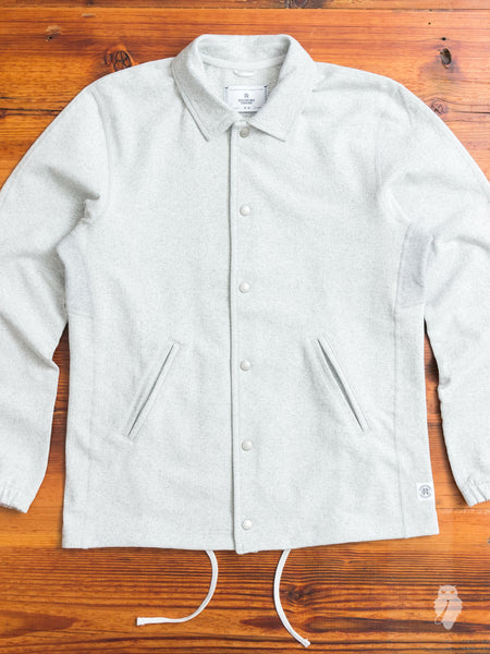 Heavyweight Coaches Jacket in Chalk