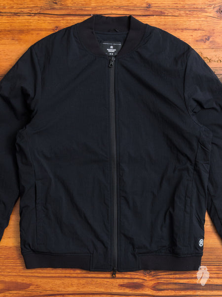 """Sea to Sky"" Insulated Bomber Jacket in Black"