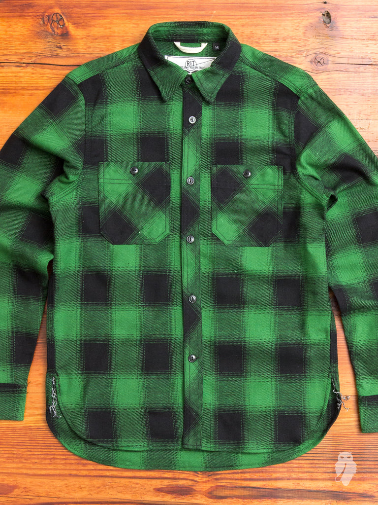 """BM Shirt"" in Green Nep Plaid"
