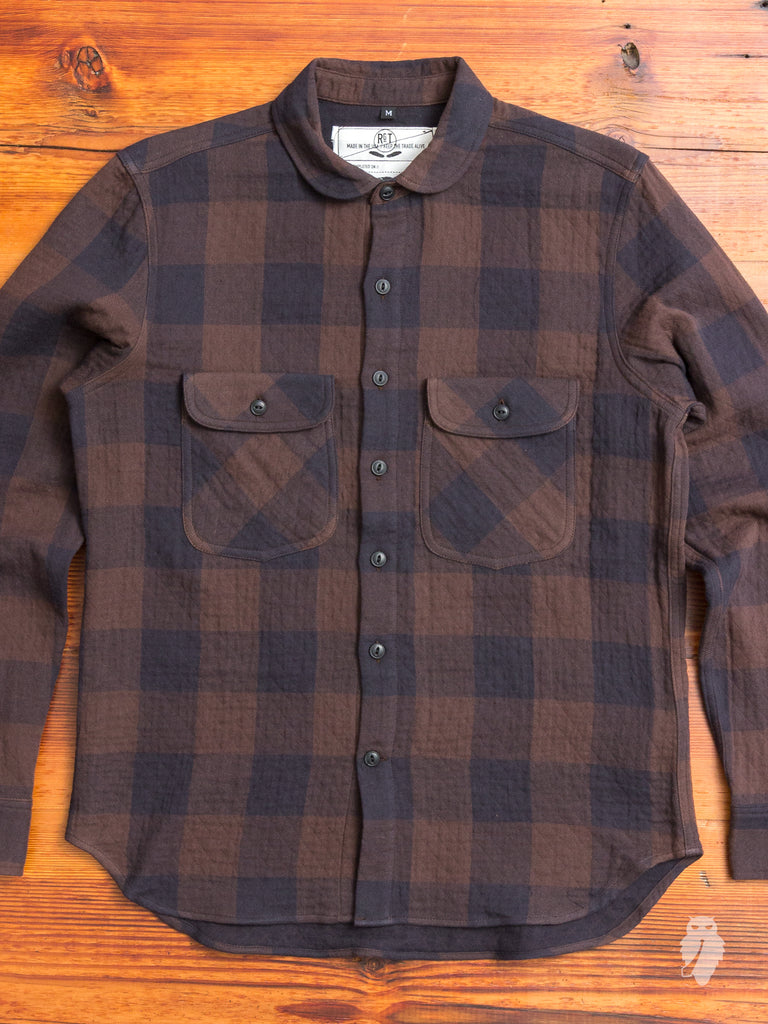 """Rancher Shirt"" in Brown Quilted Plaid"
