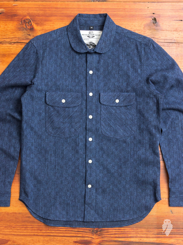 """Rancher Shirt"" in Indigo Jacquard"