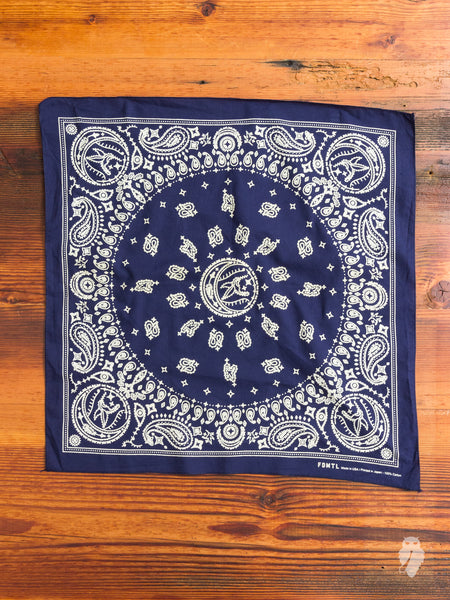 Hummingbird Bandana in Navy