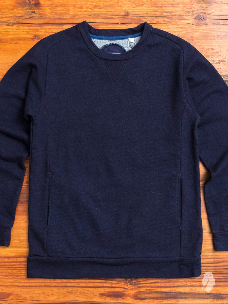 Yarn-Dyed Crewneck Sweater in Dark Indigo