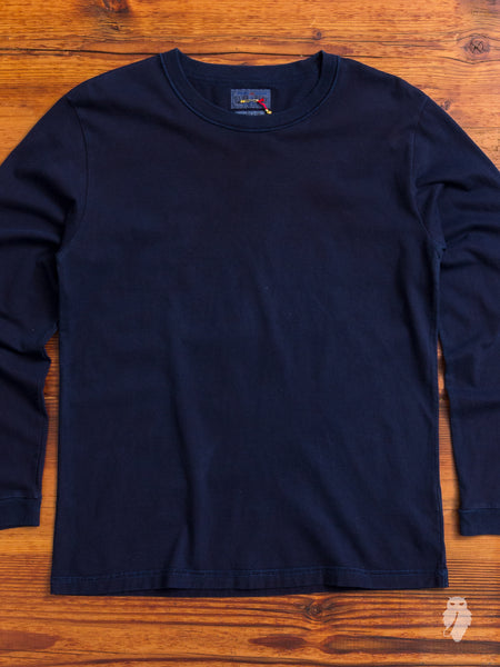 Inside-Out Long Sleeve T-Shirt in Indigo