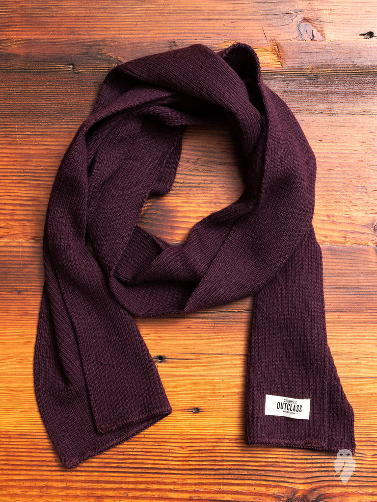 Wool Scarf in Maroon
