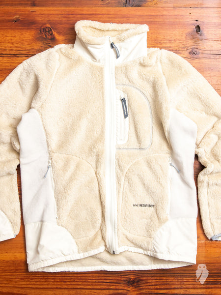 High Loft Fleece Jacket in Off-White