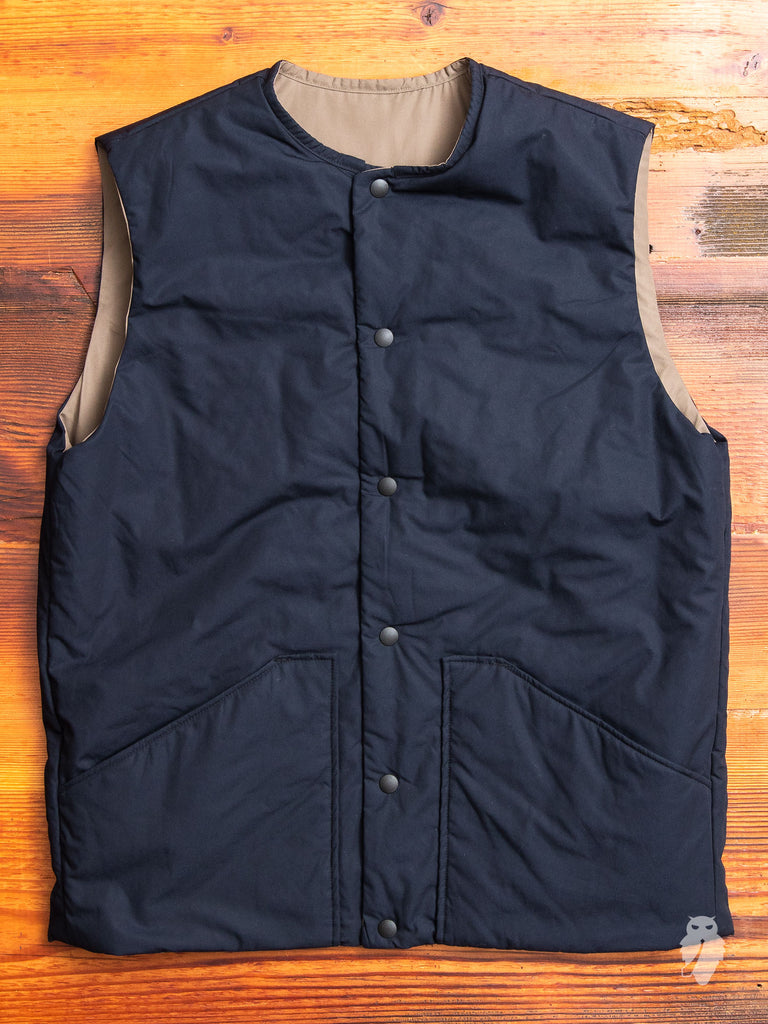 Reversible Insulated Vest in Navy