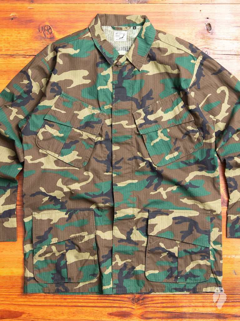 Us Army Tropical Coat In Woodland Camouflage Blue Owl