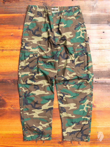 Vintage Cargo Pants in Woodland Camouflage