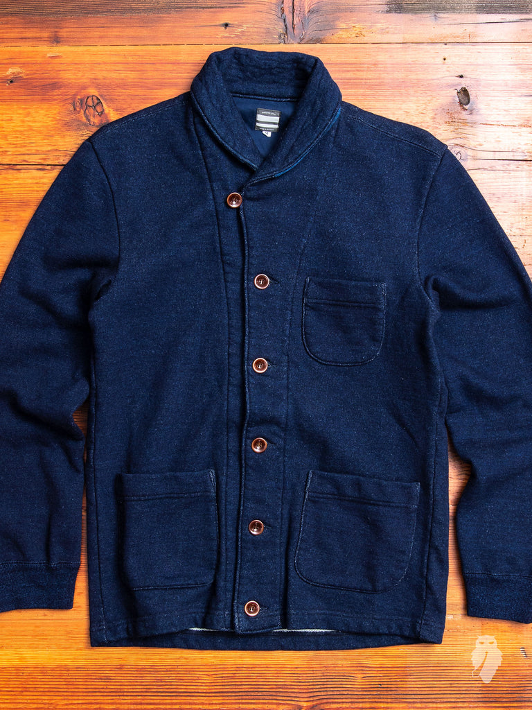 Shawl Collar Cardigan in Indigo