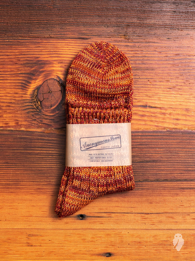Melange Sock in Paprika