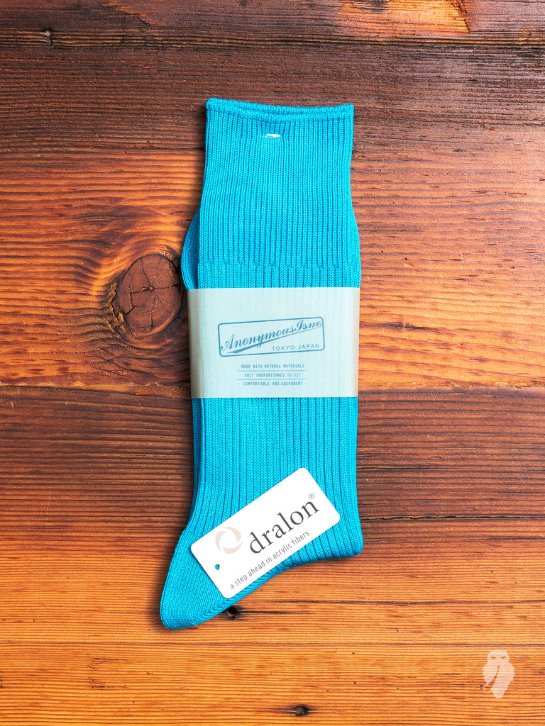 Brilliant Crew Sock in Blue