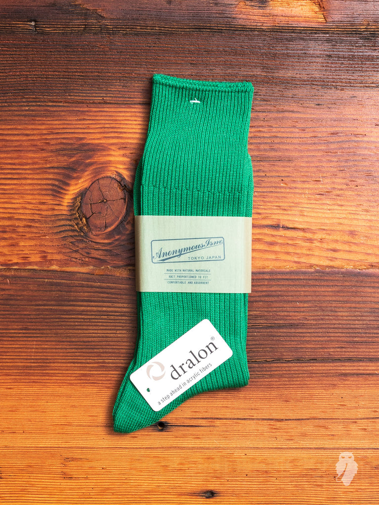 Brilliant Crew Sock in Green
