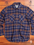 """Rancher Shirt"" in Brown/Navy Plaid"