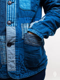Patchwork Coverall Jacket in Indigo