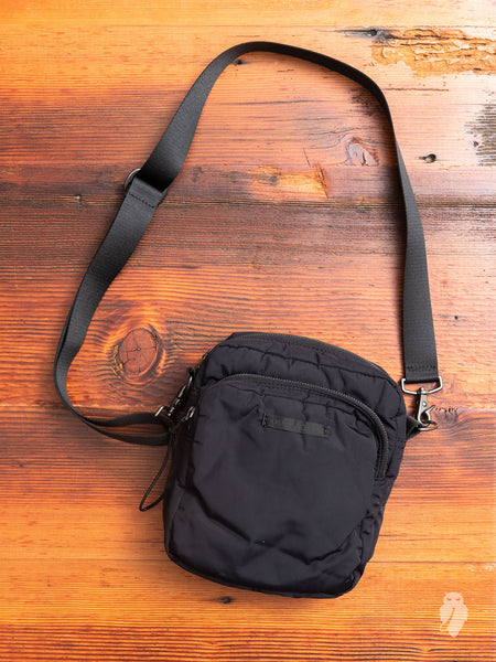 """Valve"" Cross Body Bag in Black"