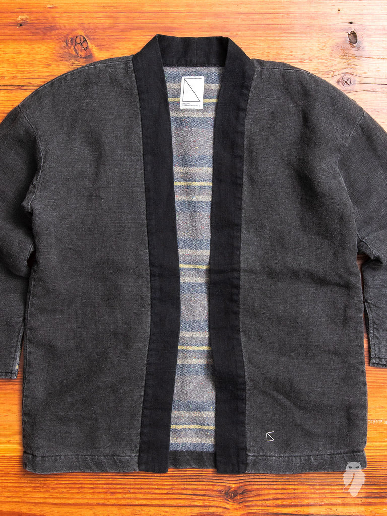 Harvesty Haori Jacket in Matte Black