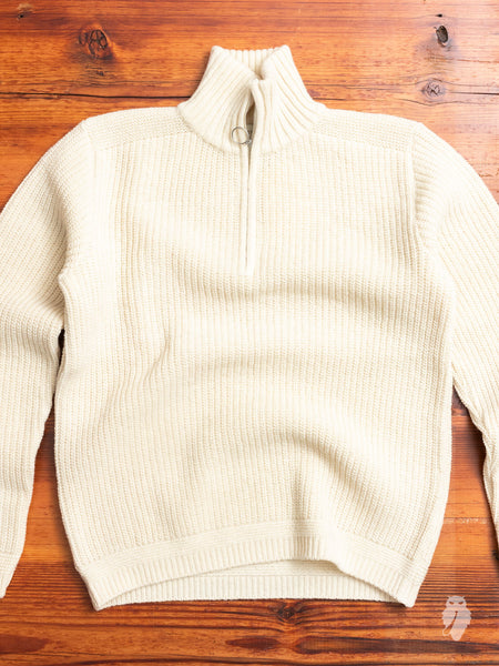 Cable Knit Turtle Neck Sweater in Cream