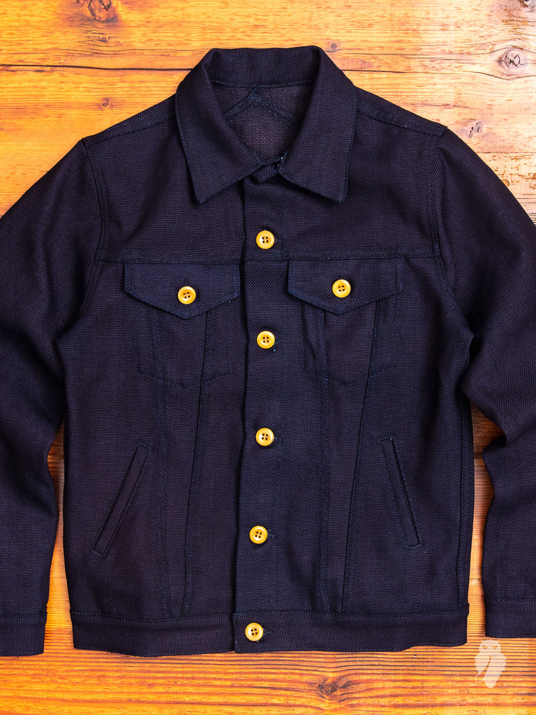 Modified Type-3 Denim Jacket in Panama Cloth