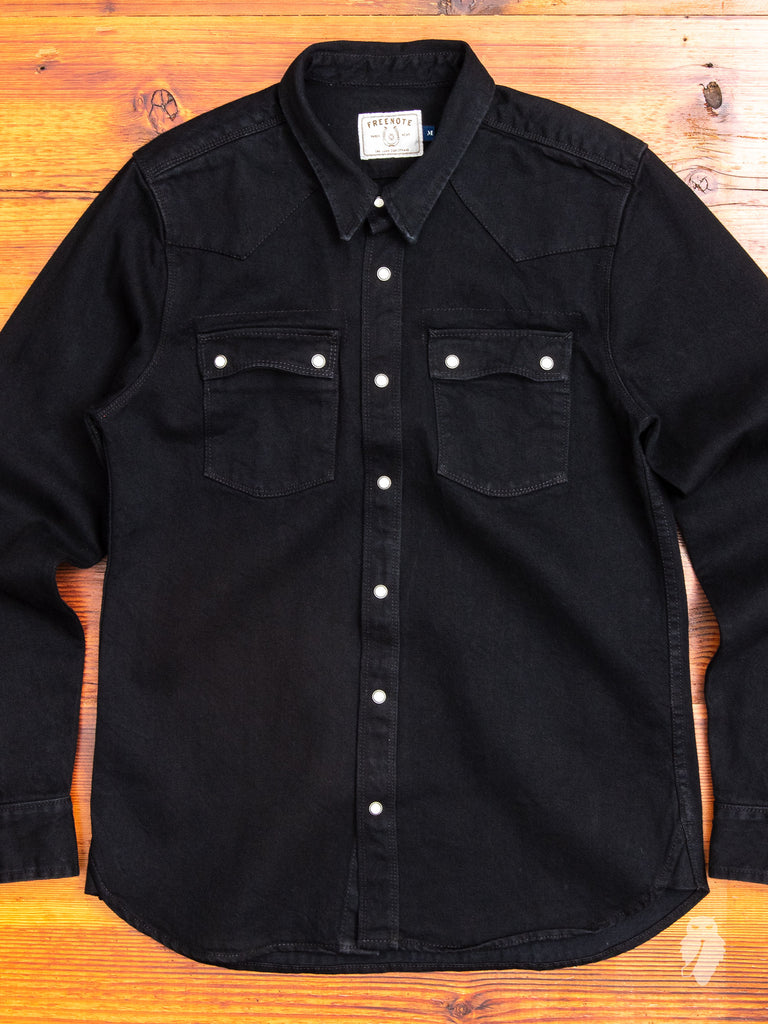 11oz Western Shirt in Rinsed Black