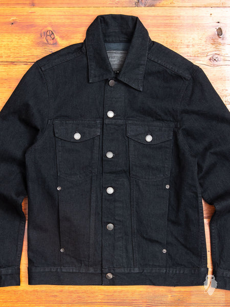 14.25oz Selvedge Denim Jacket in Black