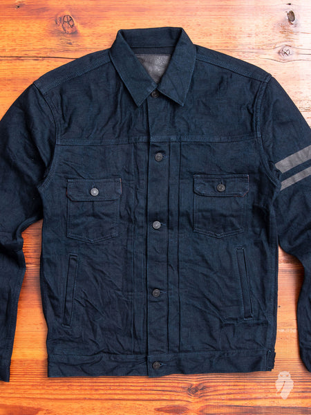"BOM012-B ""Momotaro x Blue Owl"" 15.7oz Selvedge Denim Jacket"