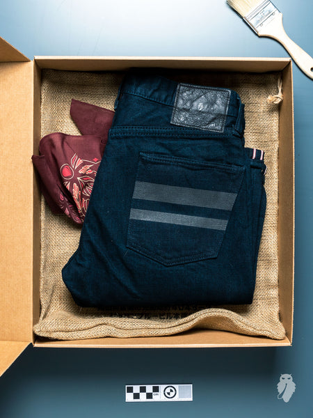 "BOM012-B ""Momotaro x Blue Owl"" 15.7oz Selvedge Denim - Tight Tapered Fit"