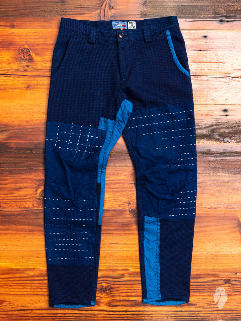 Patchwork Sashiko Pants in Indigo