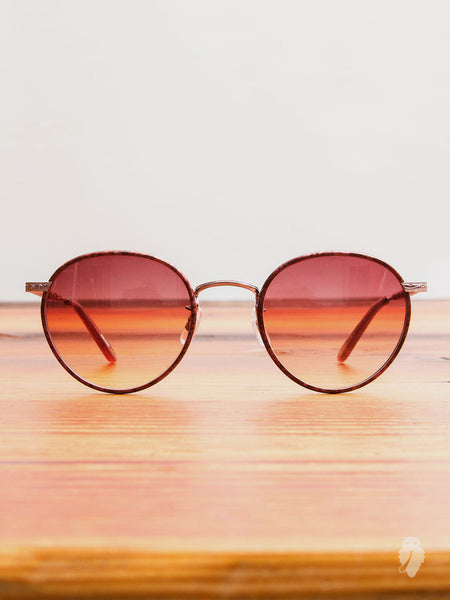 """Wilson"" Sunglasses in Burgundy Marble"