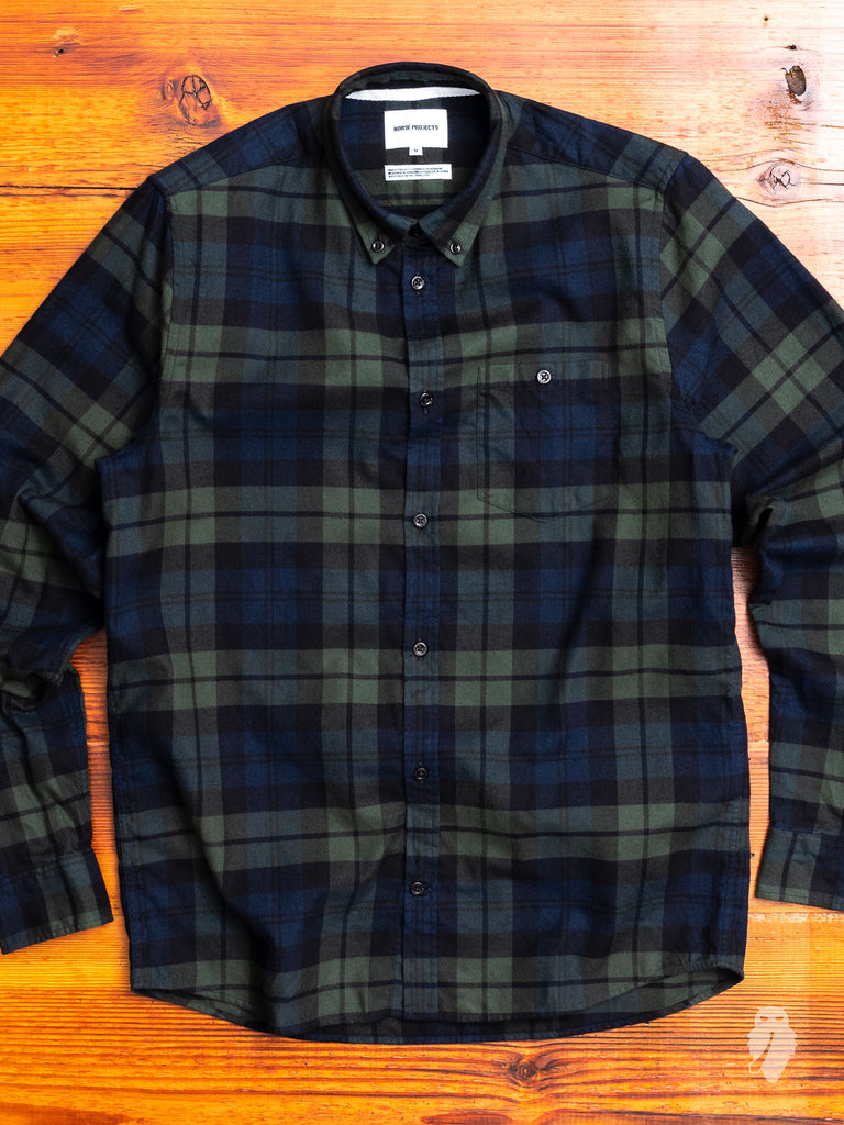 Anton Flannel Shirt in Blackwatch