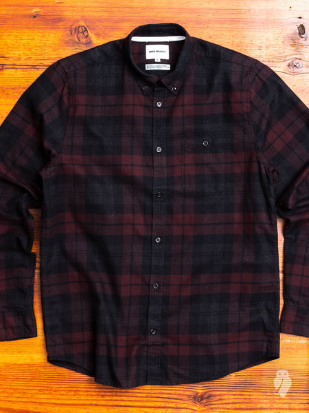 Anton Flannel Shirt in Eggplant