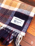 Johnstons Wool Scarf in Navy Check