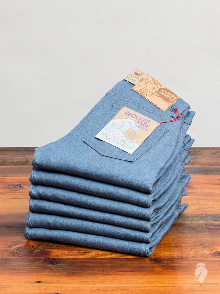 """Recycled Yarn Selvedge"" 12.5oz Selvedge Denim - Weird Guy Fit"