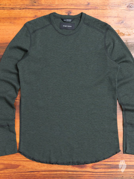 1x1 Long Sleeve Crew in Jungle Green