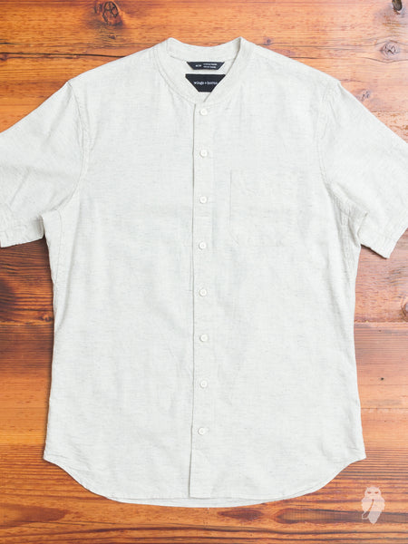 Tropical Cotton Service Shirt in Heather Ash