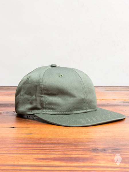 Utility Linen 6-Panel Hat in Olive