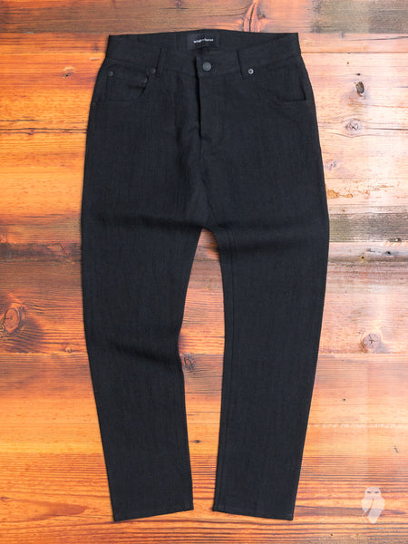 Washed Linen Pants in Black