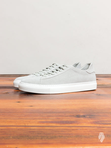 Court Low-Top Sneaker in Stone Suede
