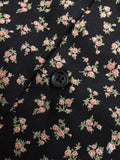 """Vintage Flowers"" Button Down Shirt in Black"