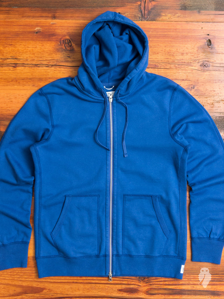 Zip Hoodie in Court Blue