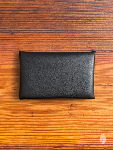 """Chorus"" Leather Cardholder in Black"