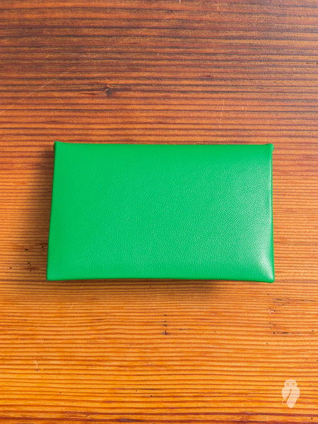 """Chorus"" Leather Cardholder in Ectoplasm"
