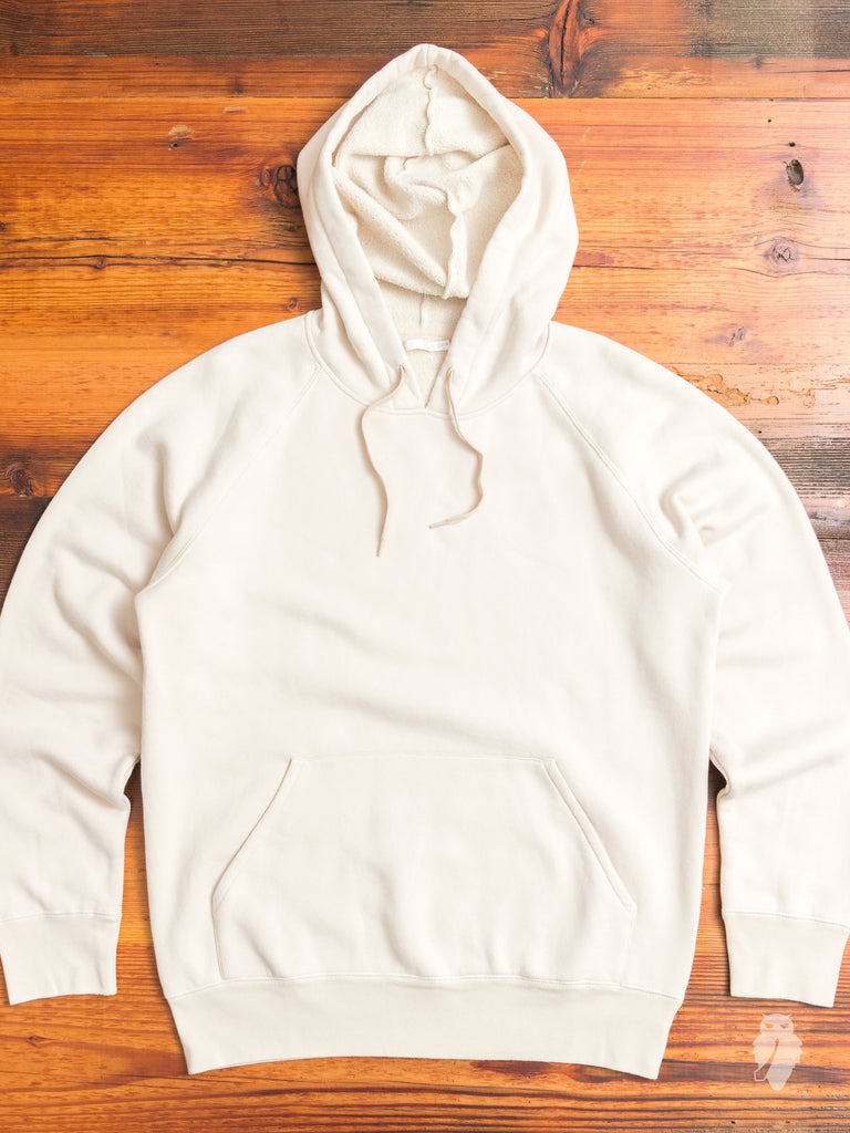 Single Pullover Hoodie in Eggshell