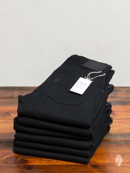 XX-013-BB 14oz Black Unsanforized Selvedge Denim - Slim Tapered Fit