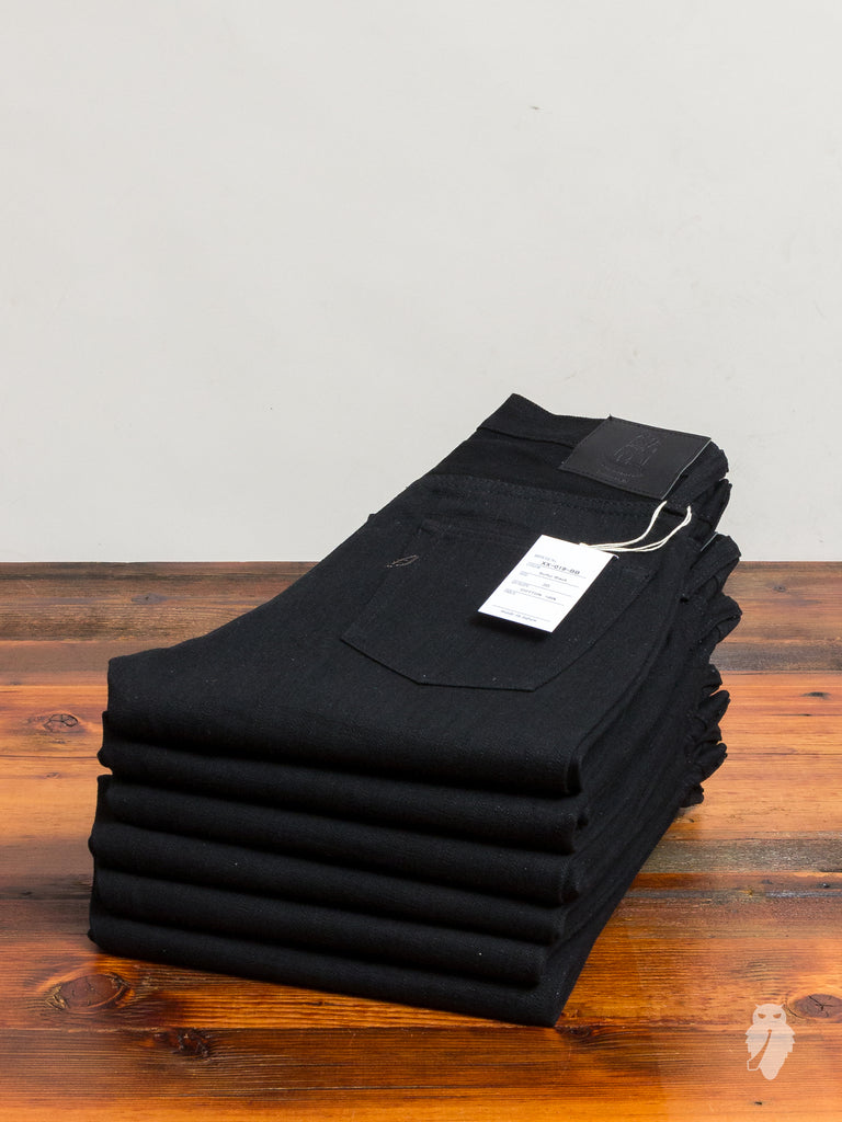 XX-019-BB 14oz Black Unsanforized Selvedge Denim - Relaxed Tapered Fit