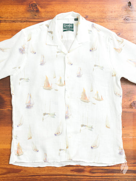 Take Sail Camp Shirt in White