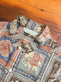 Elephant Batik Long Shirt in Bronze