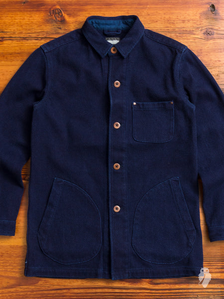 03-072 Sashiko Spring Coat in Indigo