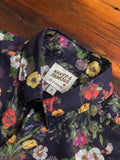 """Antique Botanical Painting"" Button Down Shirt in Navy"